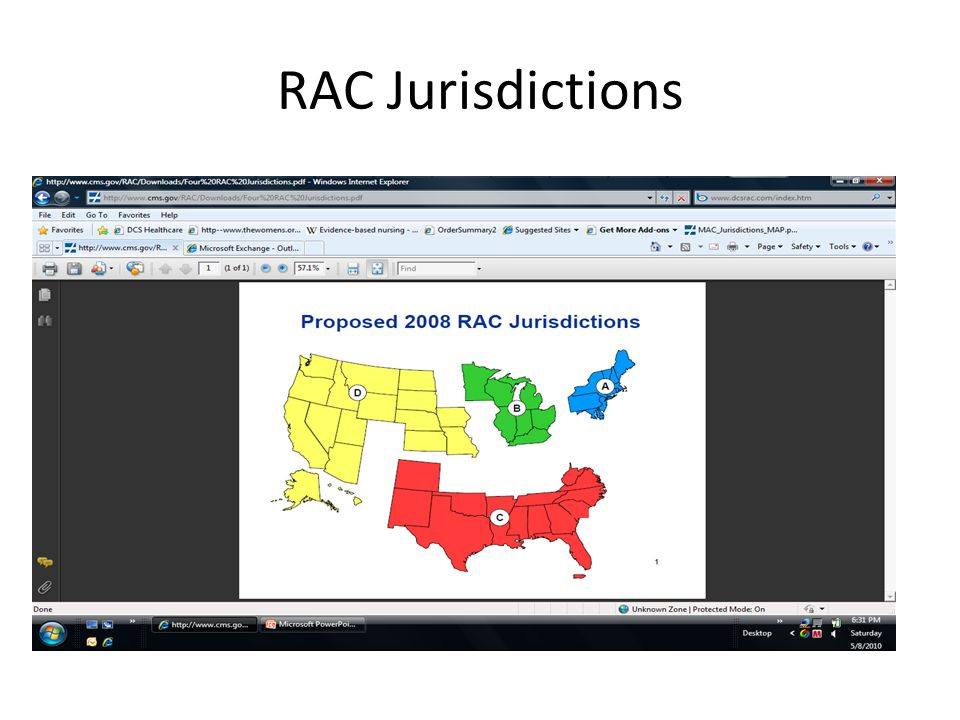 RAC Jurisdictions