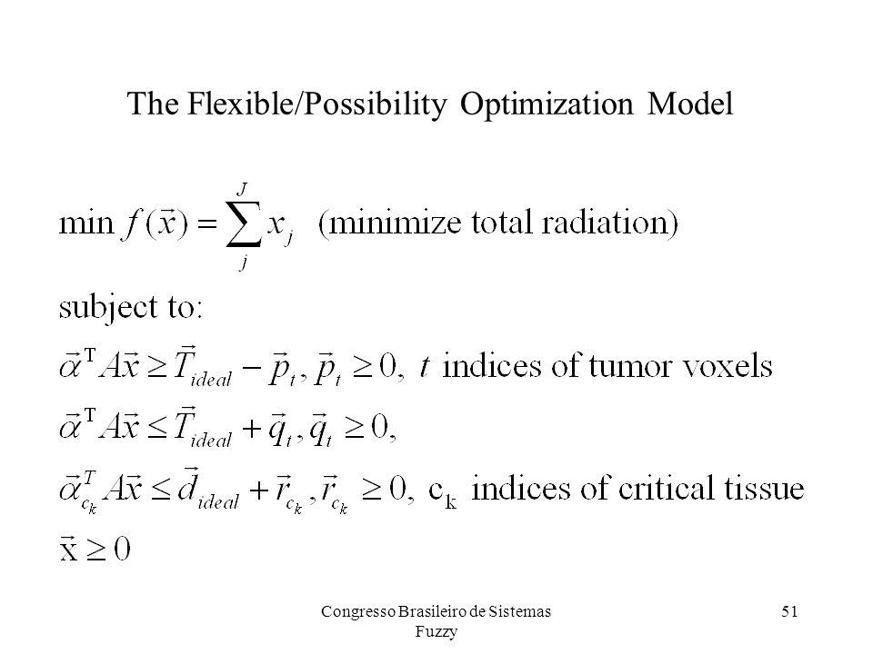 51 The Flexible/Possibility Optimization Model Congresso Brasileiro de Sistemas Fuzzy
