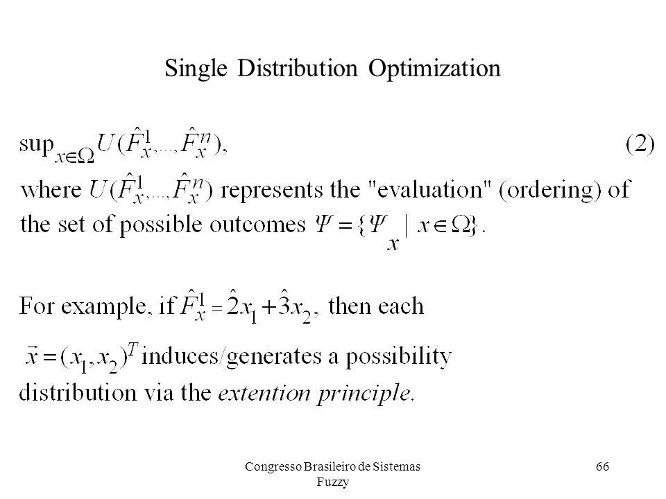 66 Single Distribution Optimization Congresso Brasileiro de Sistemas Fuzzy