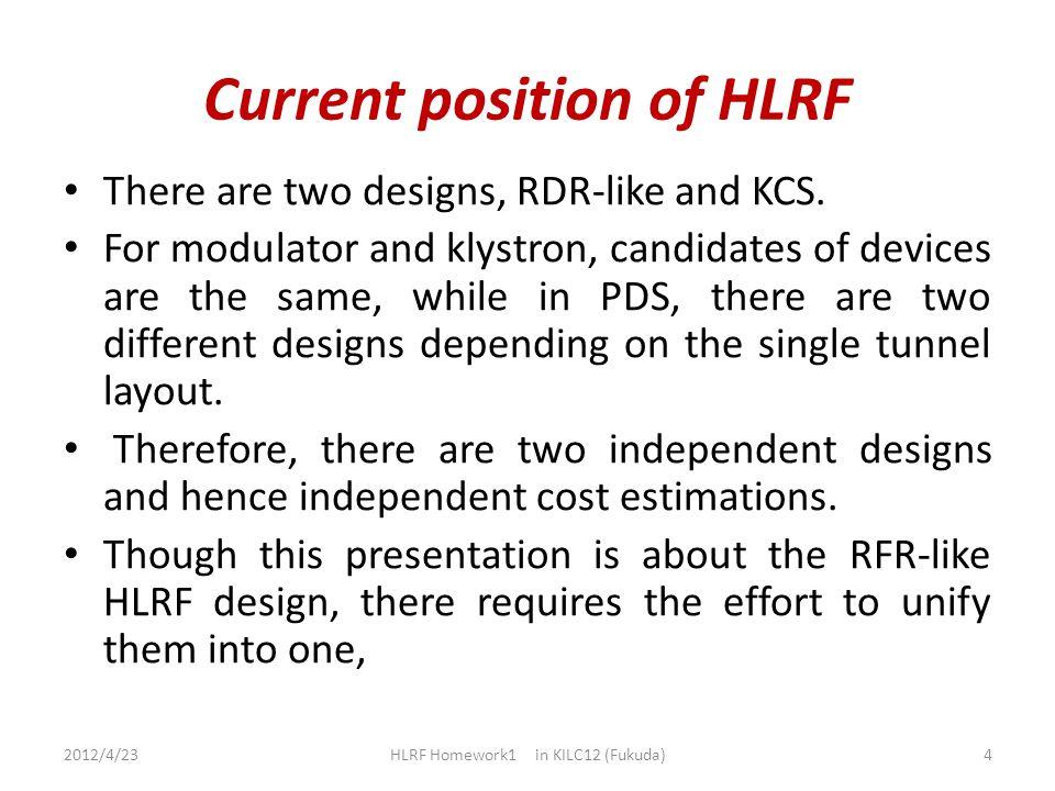 Cost saving of PDS, Klystron, Marx Generator etc. 2012/4/23 HLRF Homework1 in KILC12 (Fukuda) 5