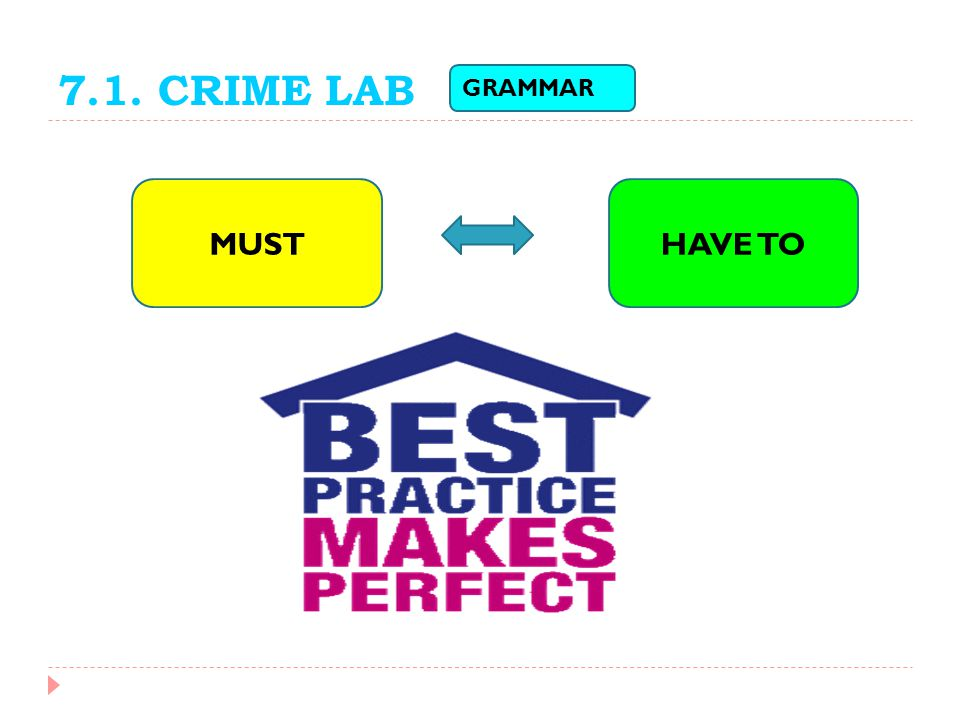 7.1. CRIME LAB GRAMMAR MUSTHAVE TO