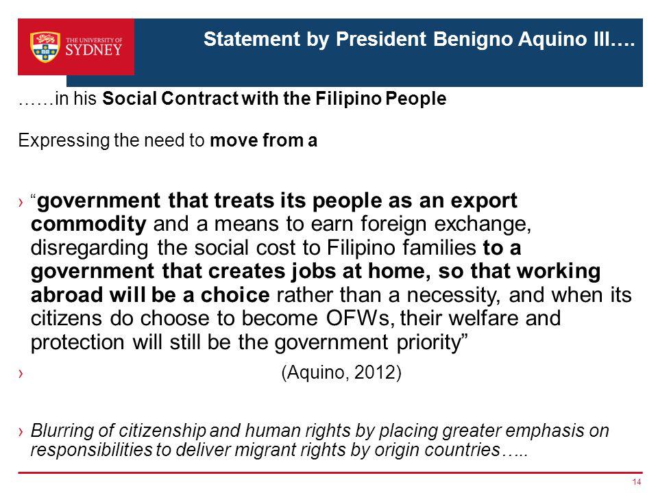 Statement by President Benigno Aquino III….