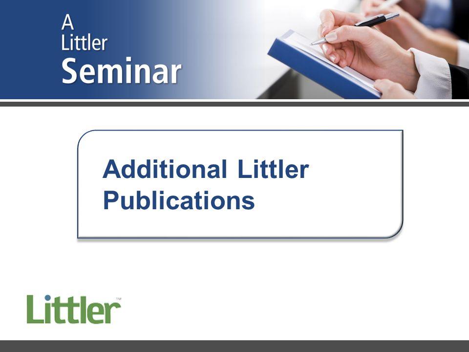 Additional Littler Publications