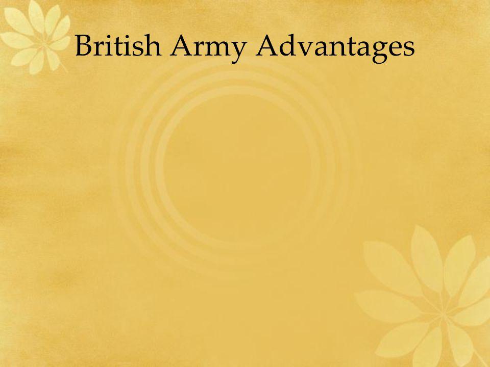 British Army Advantages