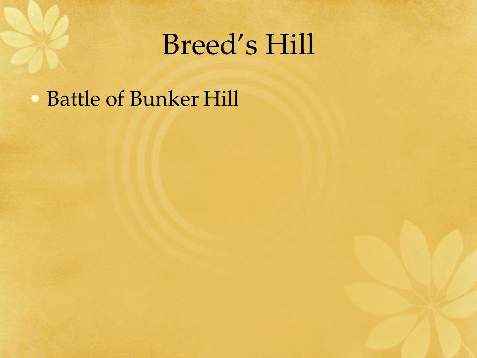 Breed's Hill Battle of Bunker Hill