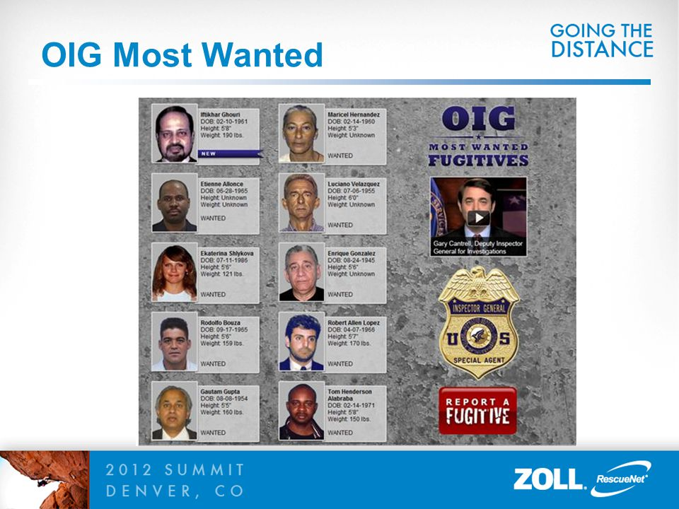 OIG Most Wanted