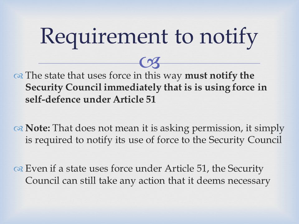  1.The ICJ found that irregular forces such as armed bands and rebel groups can also level armed attacks against States IF they act on behalf of a State and are under that State's effective control, and…because of its 'scale and effect' it would have been classified as an 'armed attack' had it been carried out by regular armed forces 2.However, merely providing logistical support or funds for irregular forces is not enough 3.The majority in the ICJ said it does not believe that the concept of 'armed attack' includes…also assistance to rebels in the form of the provision of weapons or logistical or other support' Main findings from the Nicaragua for our purposes