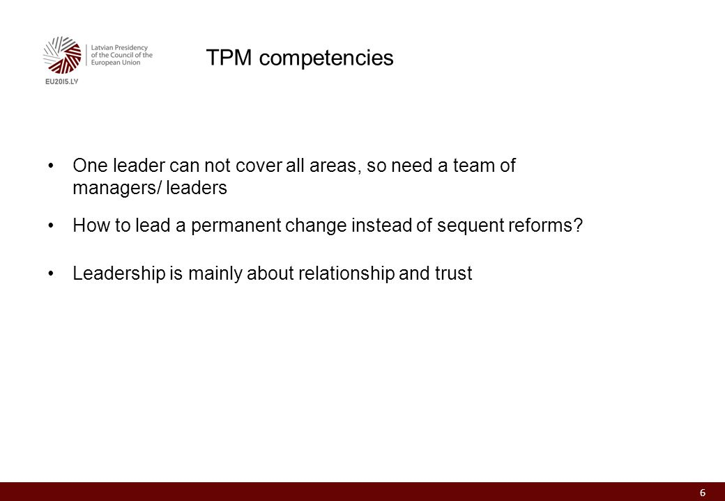 One leader can not cover all areas, so need a team of managers/ leaders How to lead a permanent change instead of sequent reforms.