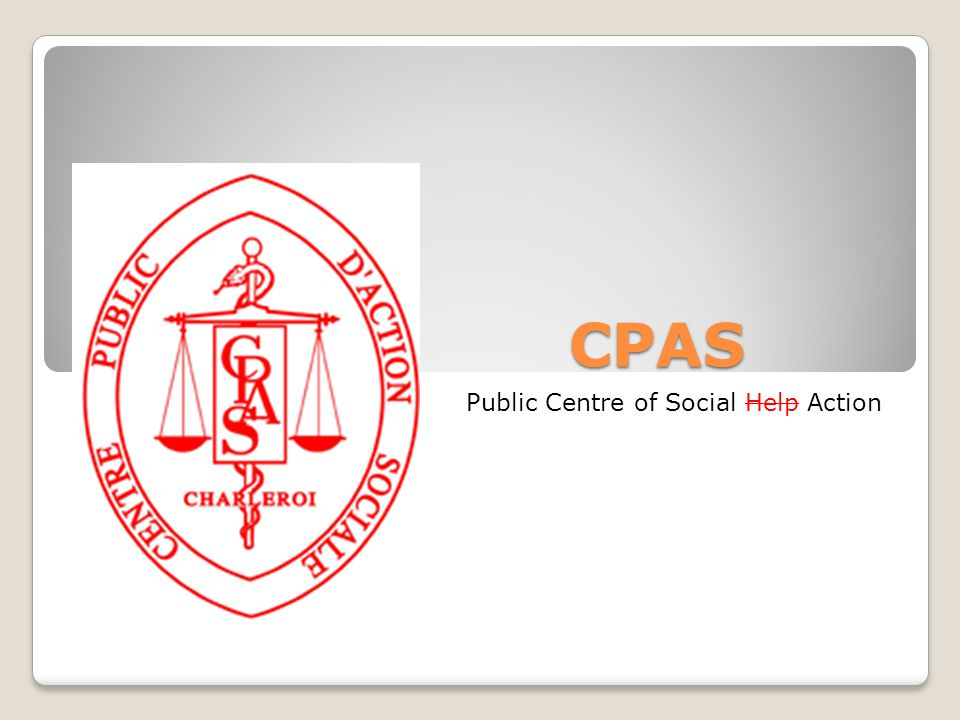 CPAS of Charleroi Council of Social Action Permanent committee Sp e cial committees 1.