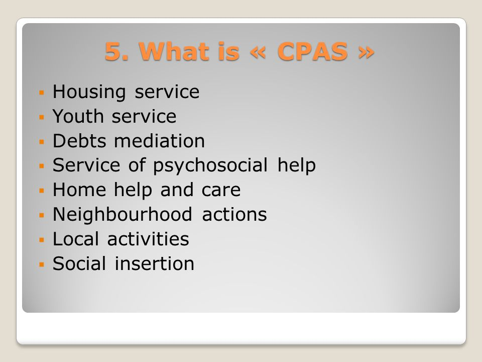 6. Financial resources of Charleroi CPAS