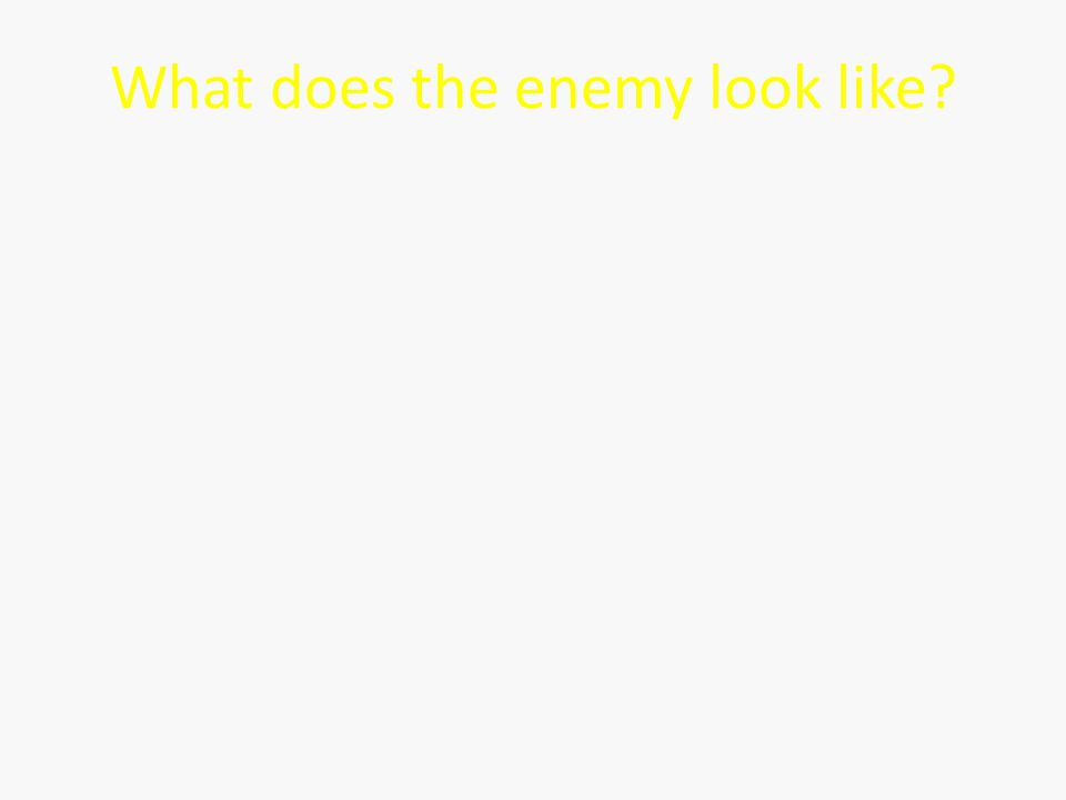 What does the enemy look like?