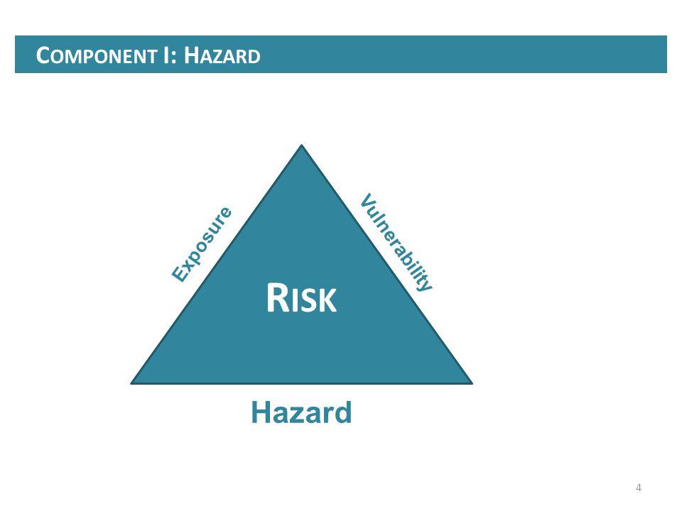 4 C OMPONENT I: H AZARD R ISK Exposure Vulnerability Hazard