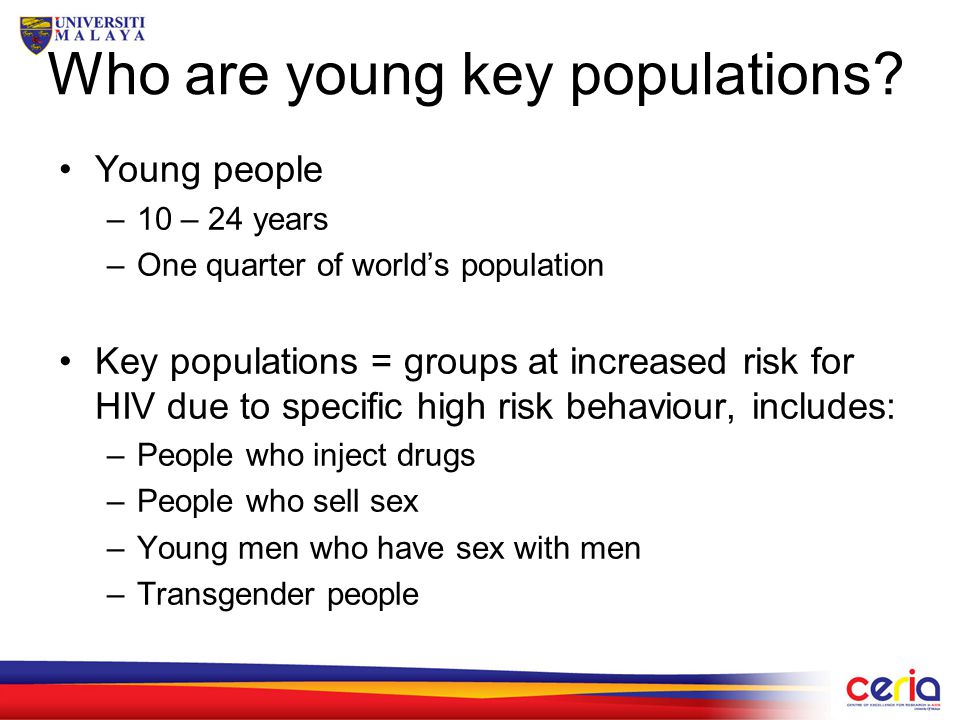Who are young key populations.