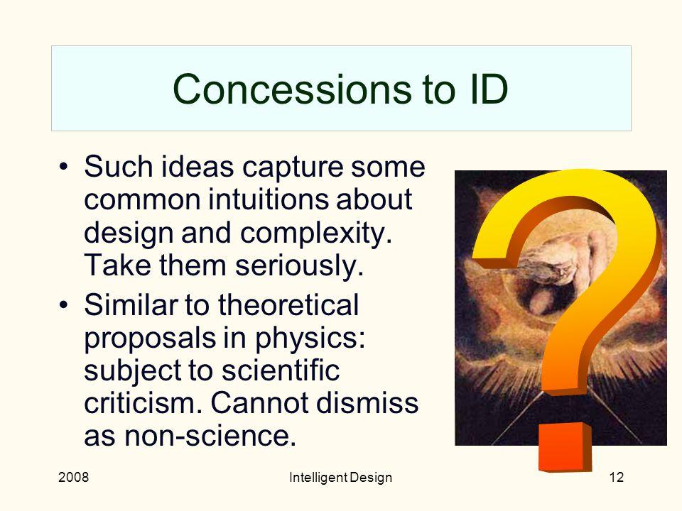 2008Intelligent Design11 Dembski's filter
