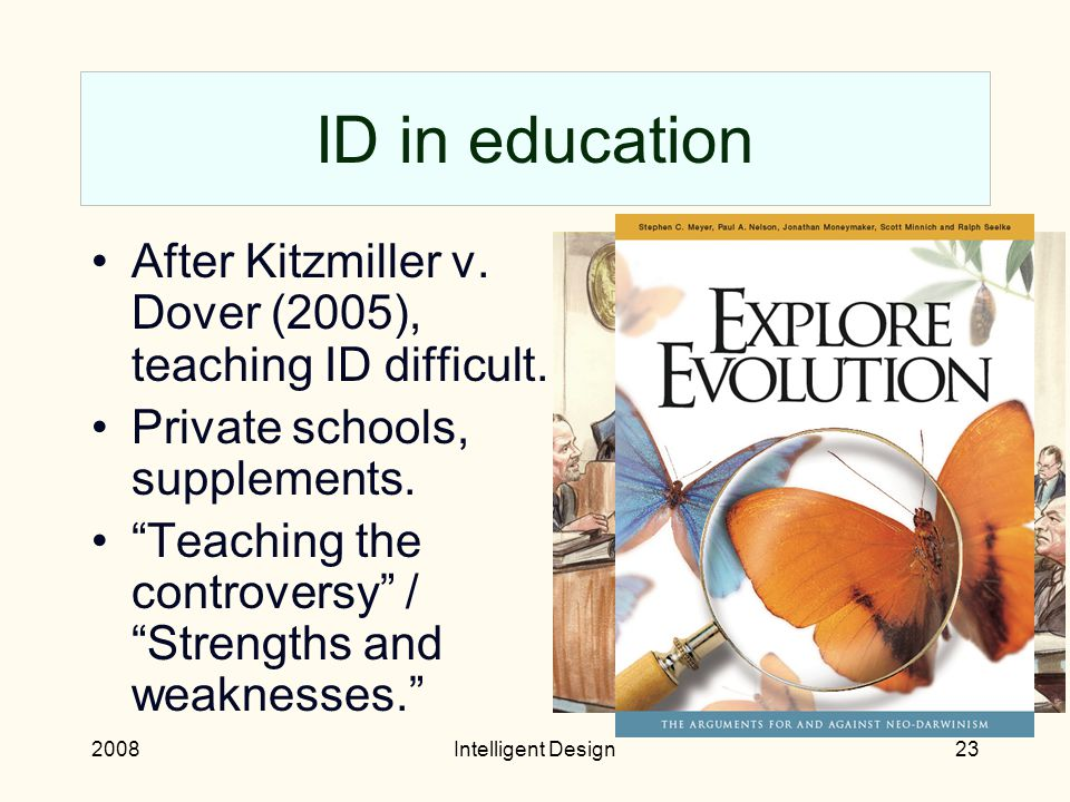 2008Intelligent Design22 Where does ID stand. In the realm of science, ID is no longer interesting.
