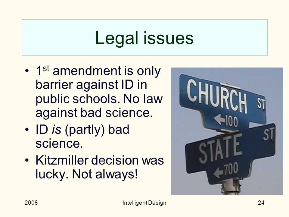 2008Intelligent Design23 ID in education After Kitzmiller v.
