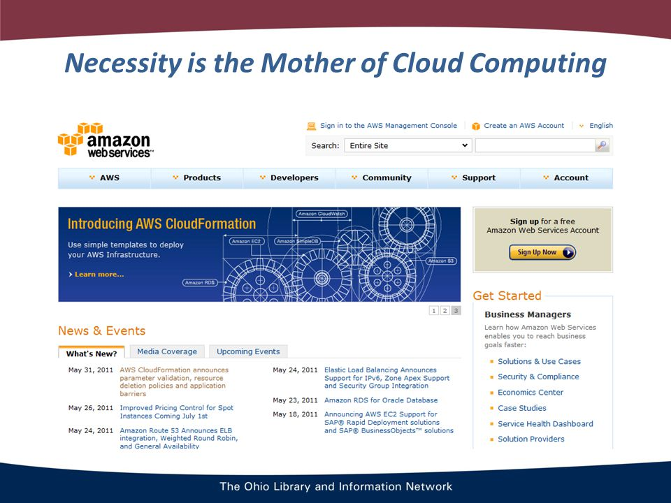 Necessity is the Mother of Cloud Computing