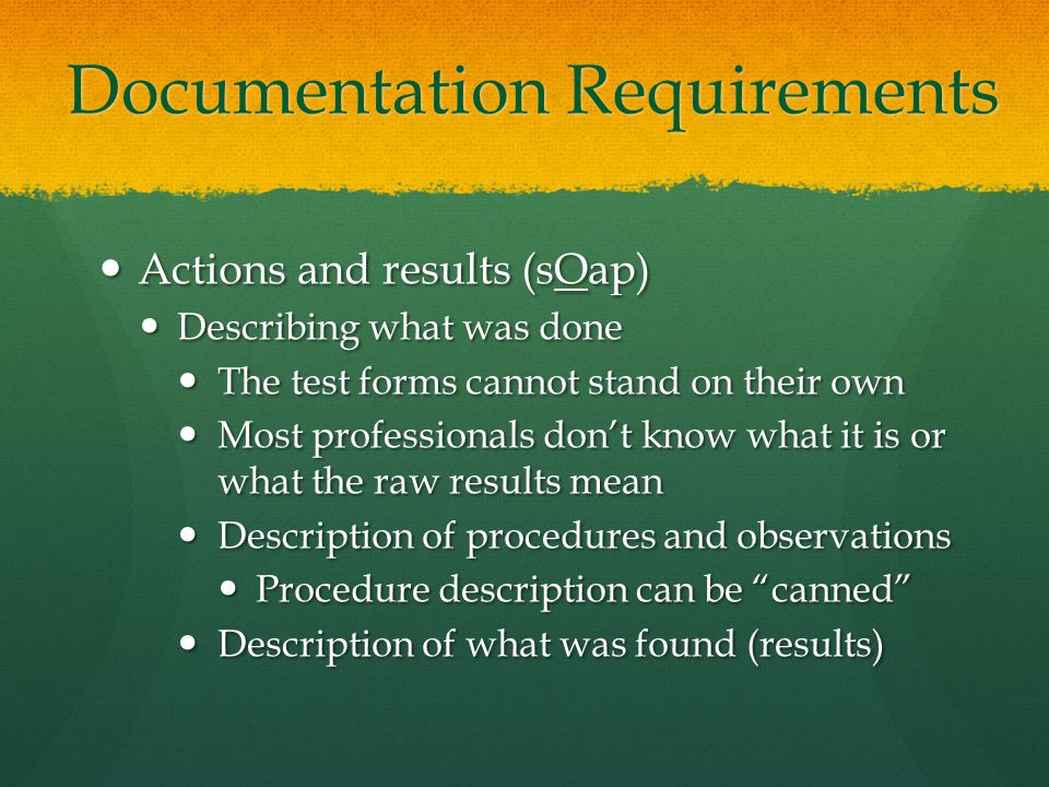 Impact on Graduate School Training Teach clinical judgment rather than strictly procedures and protocol Teach clinical judgment rather than strictly procedures and protocol Mechanics of test administration are important, but know when to stop (emphasis: Aud) Mechanics of test administration are important, but know when to stop (emphasis: Aud) Mechanics of test administration and therapy techniques are important, but know how to set realistic goals (emphasis: SLP) Mechanics of test administration and therapy techniques are important, but know how to set realistic goals (emphasis: SLP) Develop a true sense of medical necessity, clinical questions, patient-centered recommendations and plan of care Develop a true sense of medical necessity, clinical questions, patient-centered recommendations and plan of care