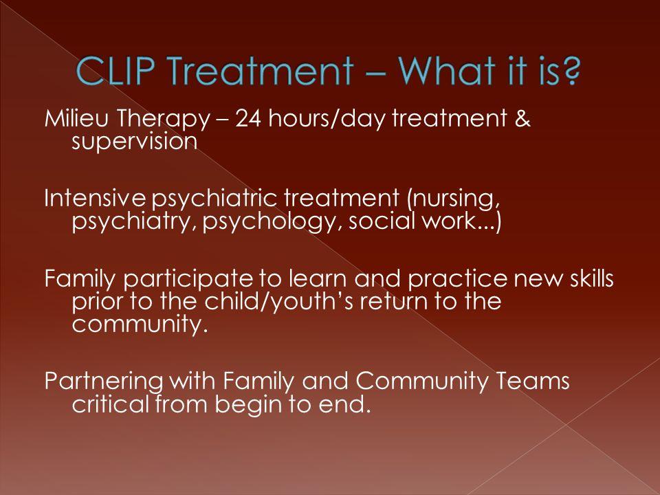State Psychiatric Hospitals CLIP Programs Western State Hospital Eastern State Hospital Child Study & Treatment Center McGraw Center Pearl Street Center Tamarack