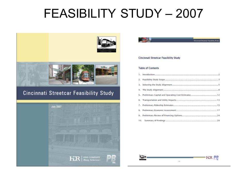 FEASIBILITY STUDY – 2007