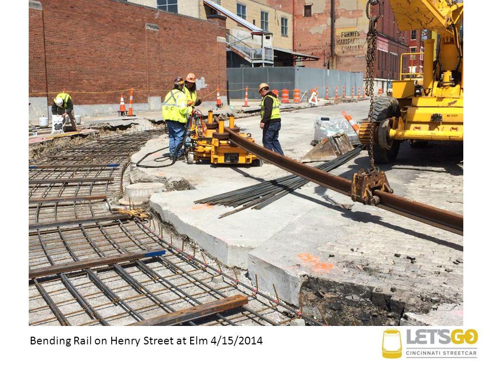 Bending Rail on Henry Street at Elm 4/15/2014