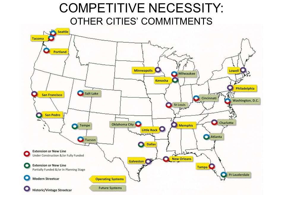 COMPETITIVE NECESSITY: OTHER CITIES' COMMITMENTS