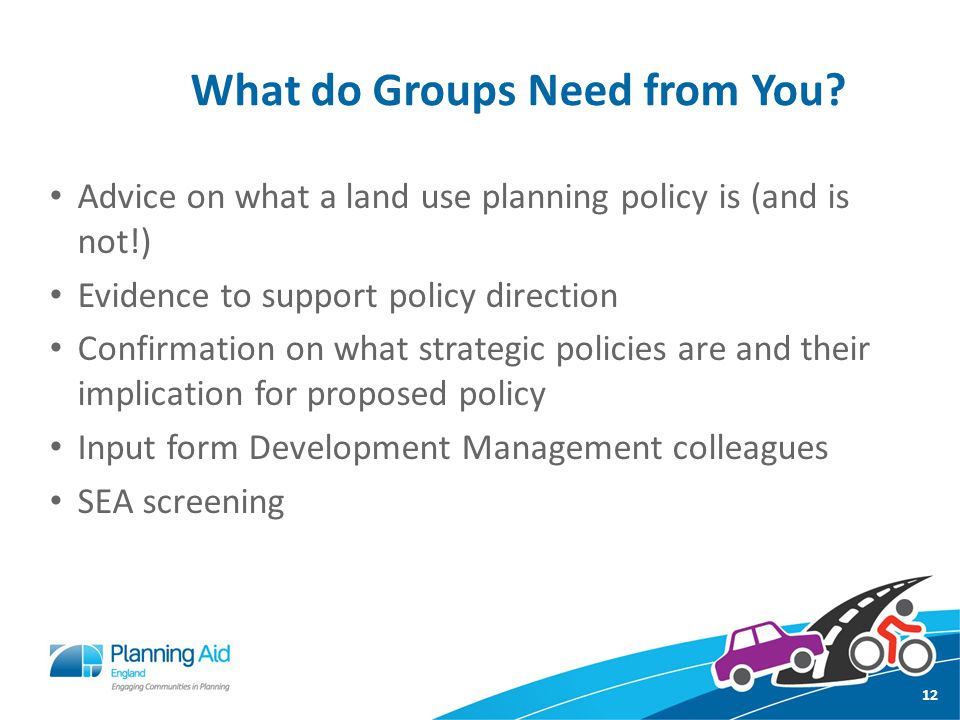 What do Groups Need from You.