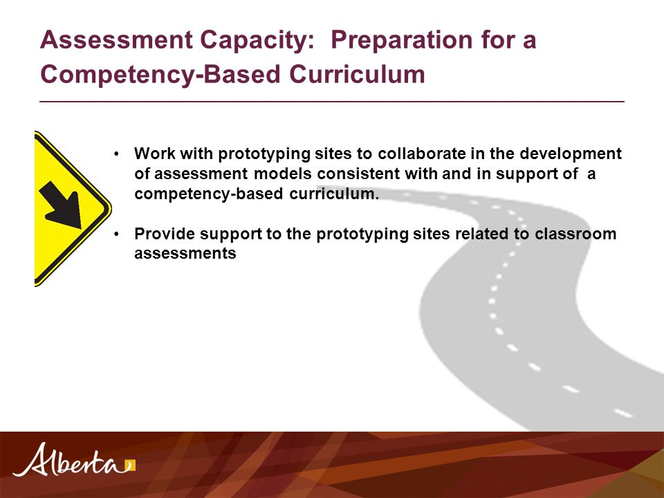 Work with prototyping sites to collaborate in the development of assessment models consistent with and in support of a competency-based curriculum. Pr