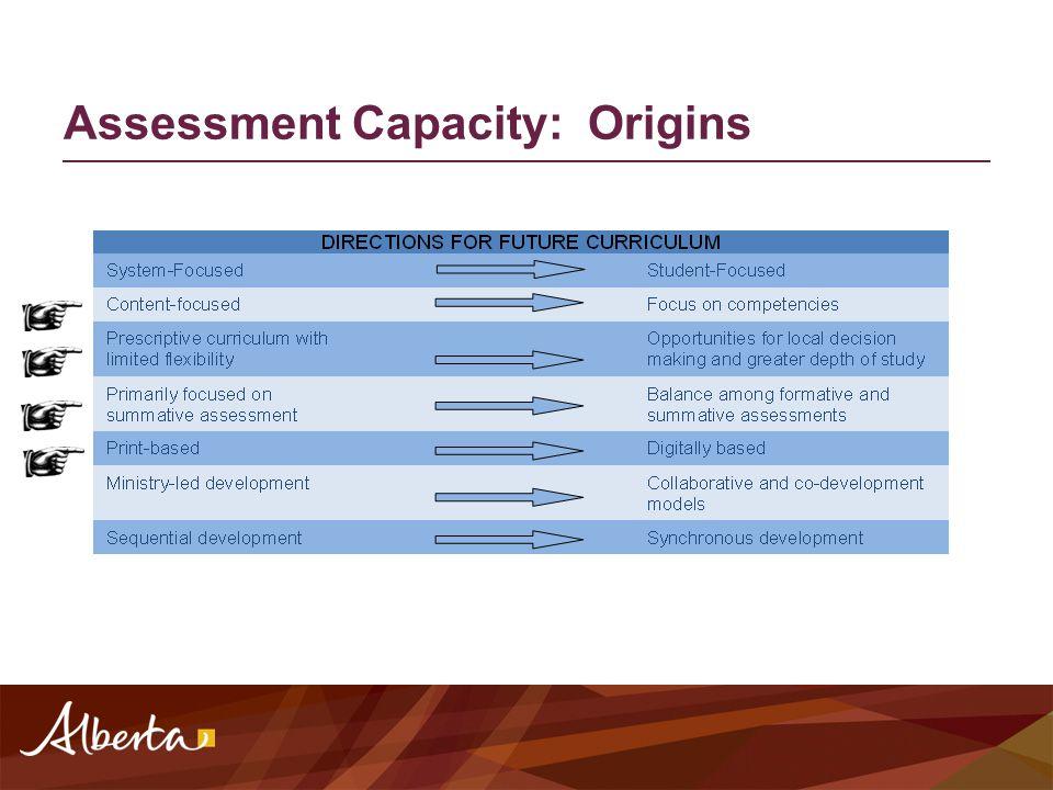 Assessment Capacity: Origins