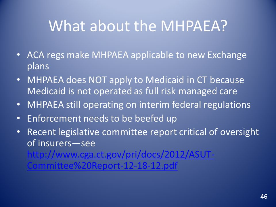 What about the MHPAEA.