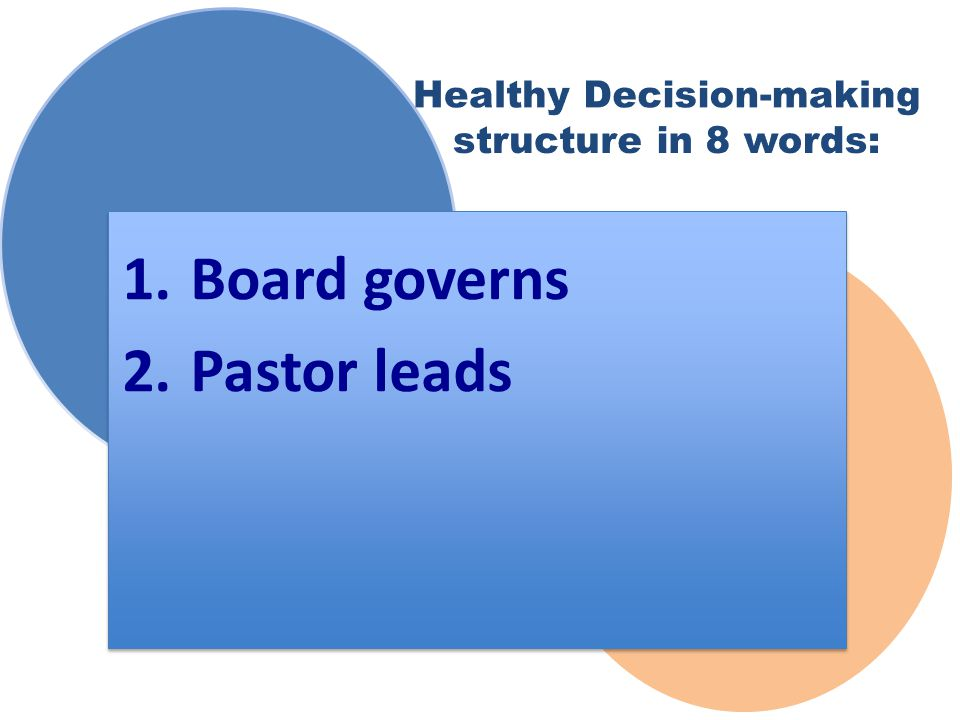 2. Pastor leads