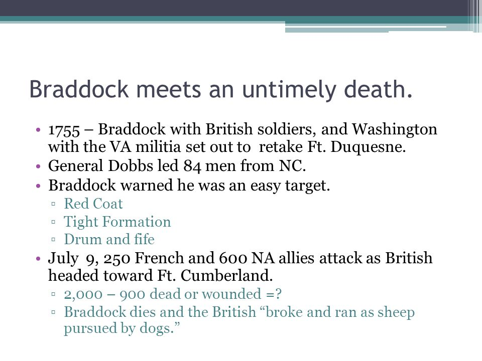 What happens next.NC sends 450 troops to VA led by Col James Innes to meet G.