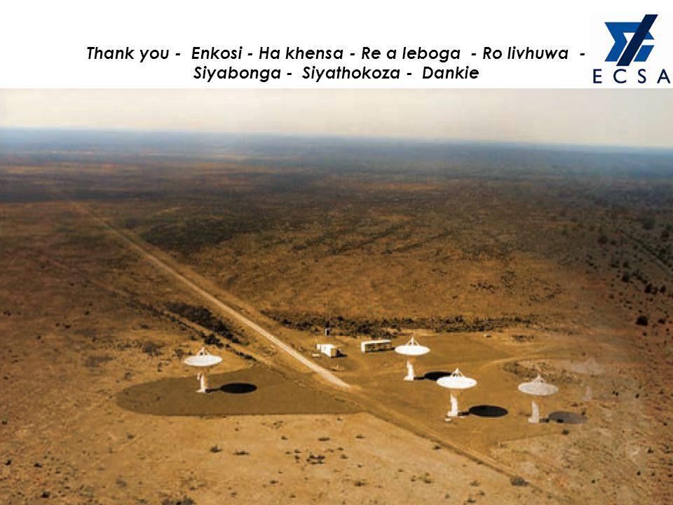 Thank you - Enkosi - Ha khensa - Re a leboga - Ro livhuwa - Siyabonga - Siyathokoza - Dankie