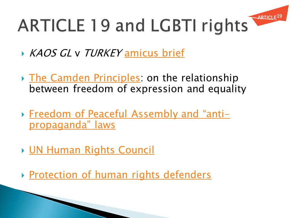  KAOS GL v TURKEY amicus briefamicus brief  The Camden Principles: on the relationship between freedom of expression and equality The Camden Princip