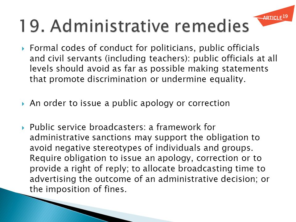  Formal codes of conduct for politicians, public officials and civil servants (including teachers): public officials at all levels should avoid as fa