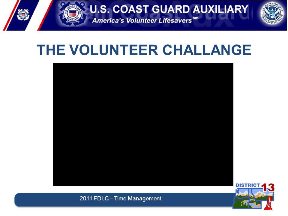 THE VOLUNTEER CHALLANGE 2011 FDLC – Time Management