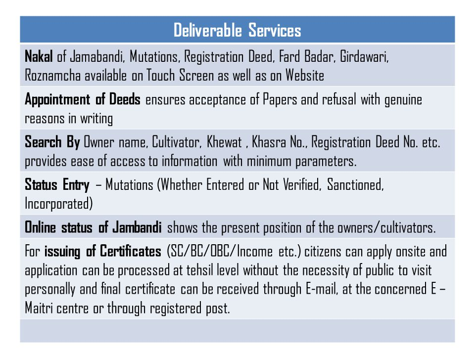 Deliverable Services Birth and Death : Explain ACT and Procedure.