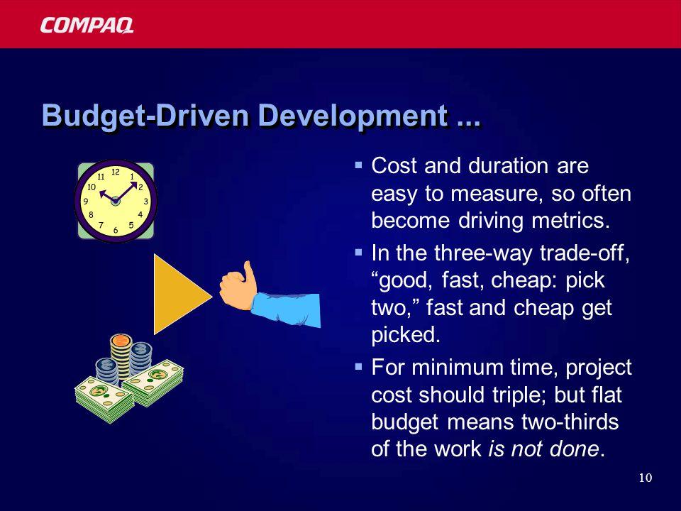 10 Budget-Driven Development...