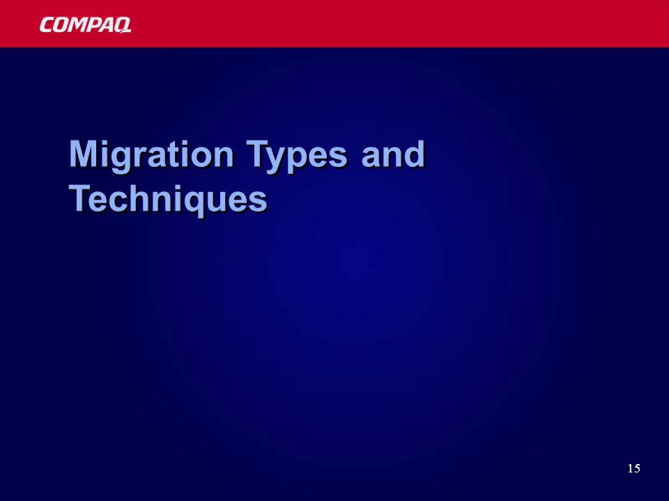 15 Migration Types and Techniques