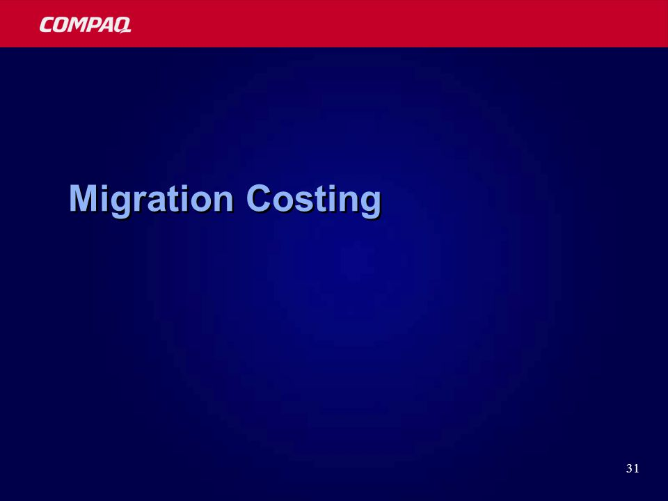 31 Migration Costing