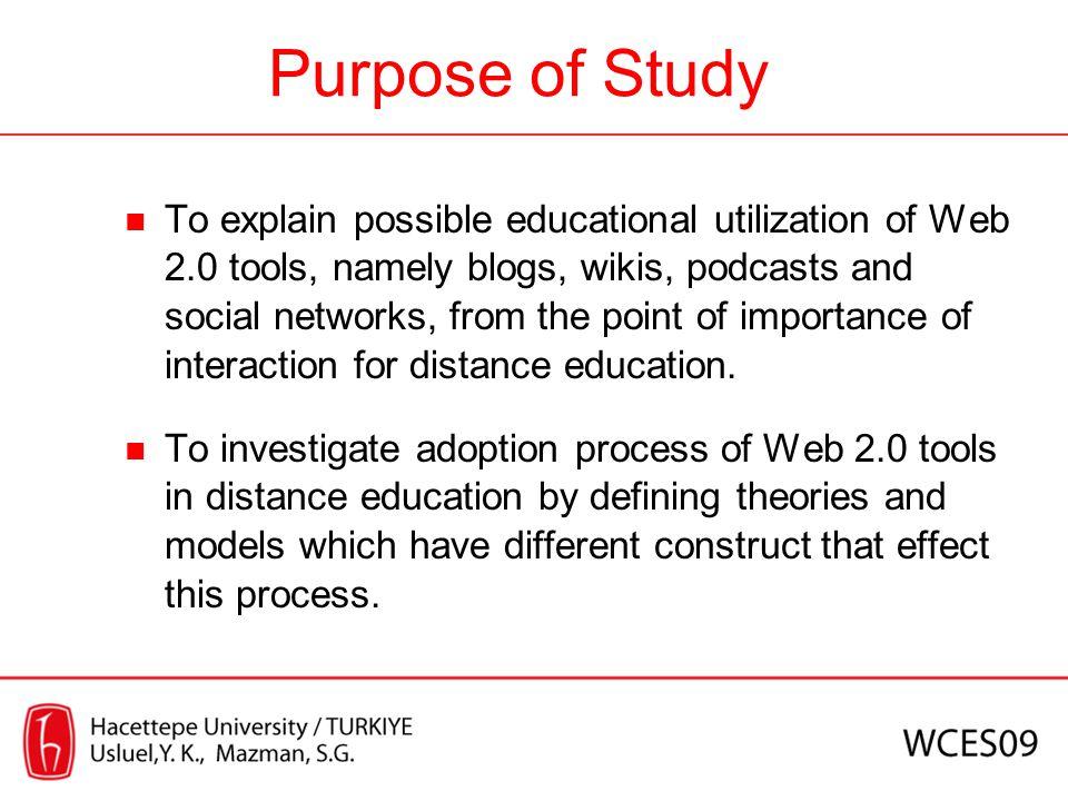 Interaction between students, teacher, content etc.