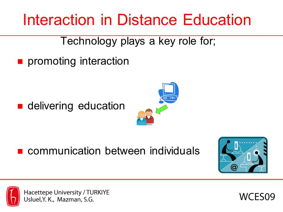 Conclusion As Web 2.0 technologies support interaction process, many advantages of them have also been a response for questions about adoption of these technologies in distance education.