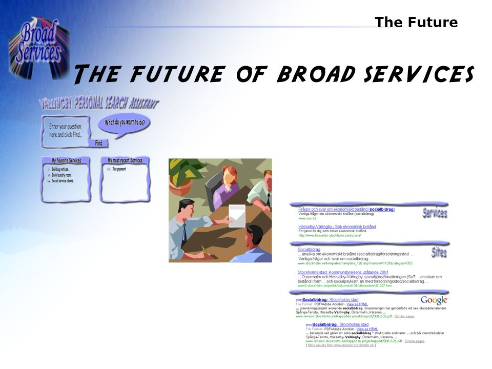 The Future The future of broad services
