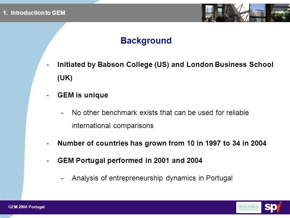 GEM 2004 Portugal Key Drivers of Entrepreneurship in Portugal (3) 3.