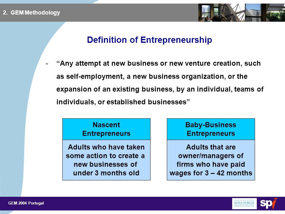 GEM 2004 Portugal Number of Entrepreneurs in Portugal 3.