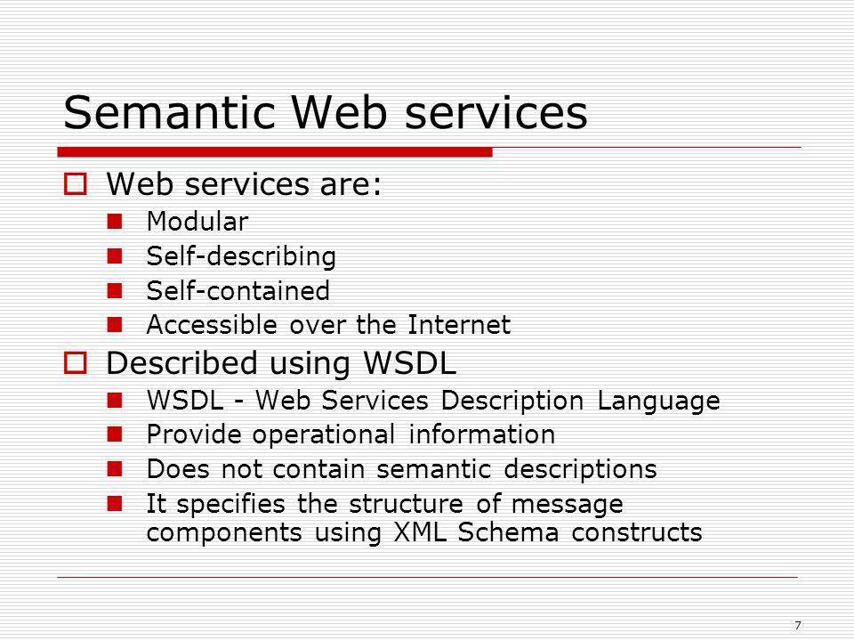 18  Two categories of Web Services Composition: Workflow composition  Static workflow composition: EFlow (Casati, Ilnicki, et al.