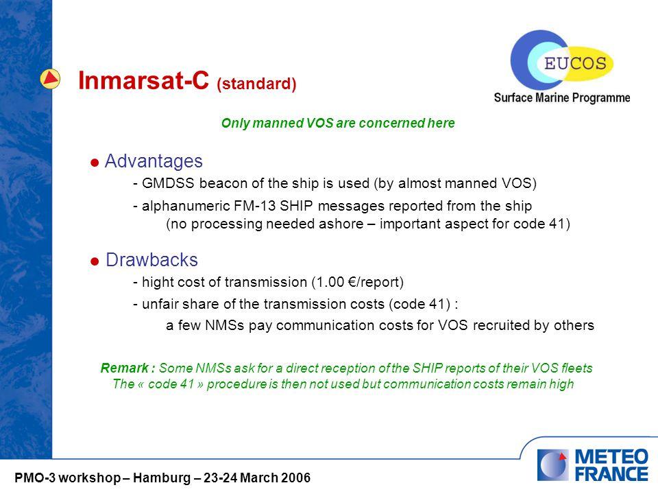 Inmarsat-C (standard) Existence of bilateral arrangements - e.g.