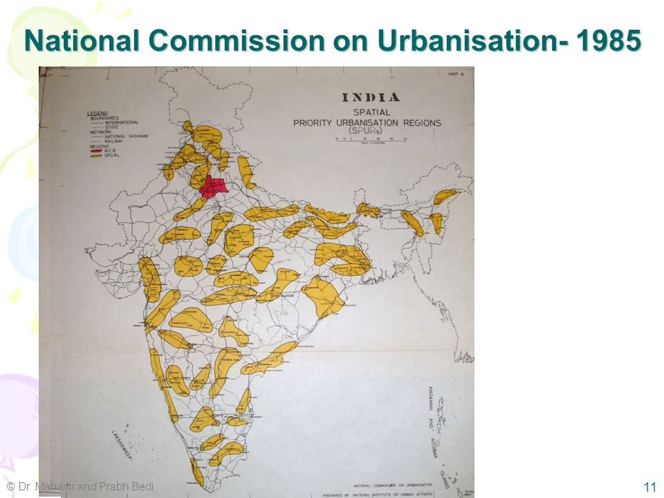 10 Government Initiatives – policy level 74 th Constitutional Amendment –Planning powers to municipal authorities National Commission on Urbanisation