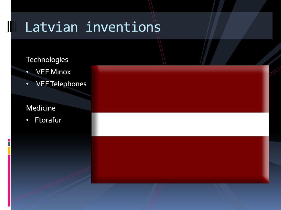 Technologies VEF Minox VEF Telephones Medicine Ftorafur Latvian inventions