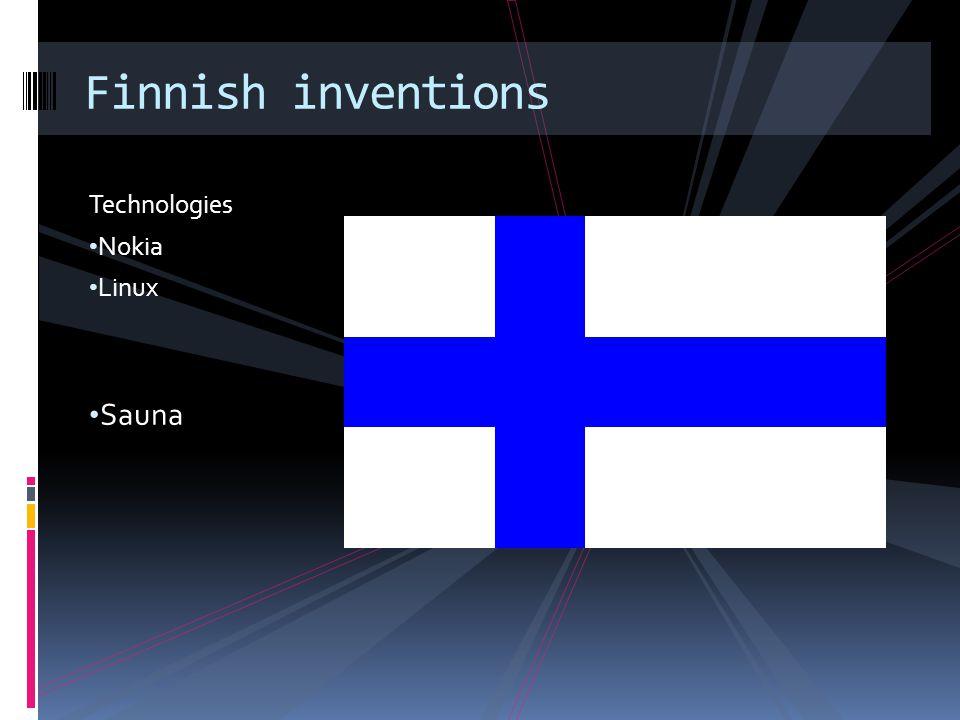 Technologies Nokia Linux Sauna Finnish inventions